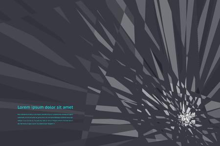 futuristic: Breaking futuristic design template Illustration