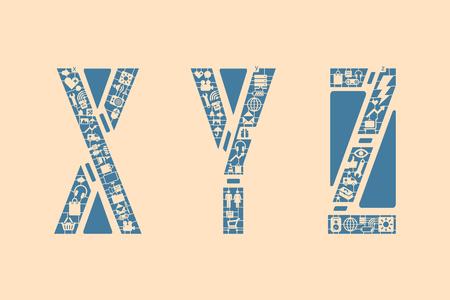 xyz: Icon fonts - XYZ Illustration