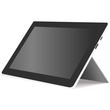 electrical equipment: tablet, electrical equipment, vector, illustration
