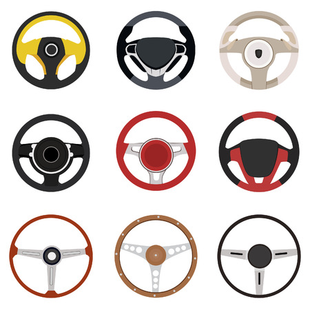 Vehicle steering wheel vector