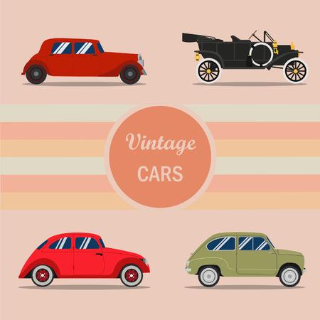 Retro auto's, Oldtimers vectoren