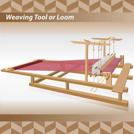 Loom vintage illustration