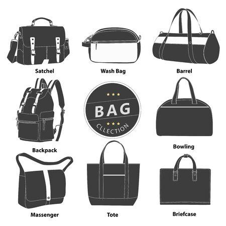 sacchetti di raccolta Illustrazione set