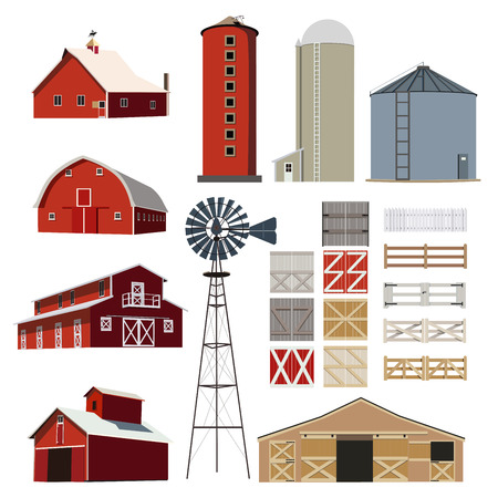 farm house: Farm house Building Livestock vector