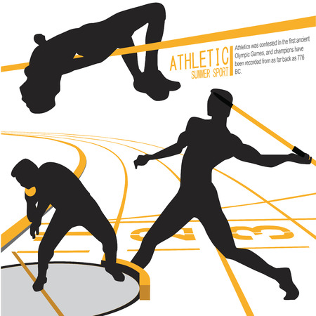 Athletes Sports Action illustration vector Illustration