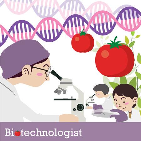 biotechnologist occupation vector Illustration