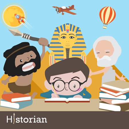 historian occupation vector Illustration