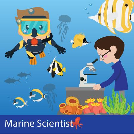 scienze marine vettore ricercatore