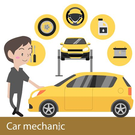 machanic: Car mechanic vector illustration Illustration