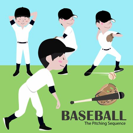 Vector Illustration Baseball Player Illustration