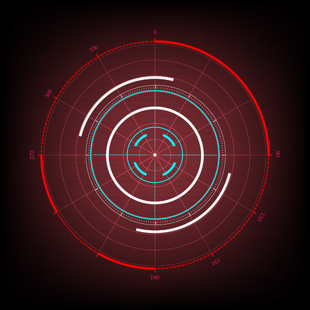Radar interface UI future design graphic illustration
