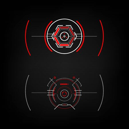 future sight action mode Radar interface UI future design graphic illustration Illustration