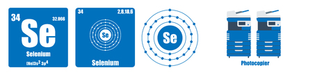 Periodic Table of element group VI  Selenium Vectores