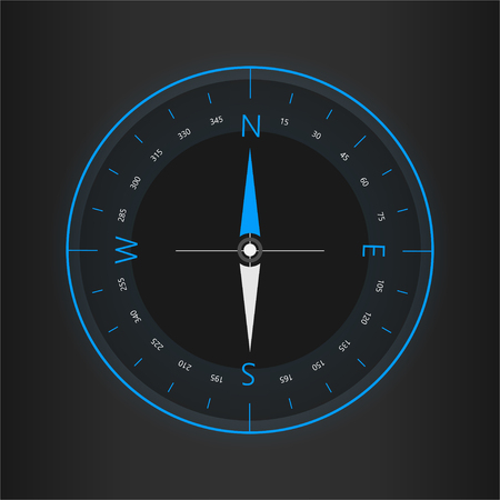 Compass digital HUD navigate illustration design Illusztráció