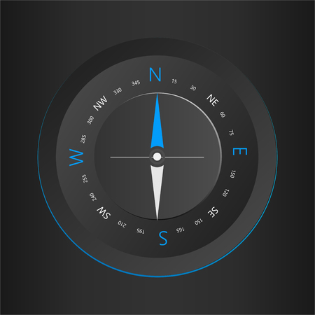 Compass digital HUD navigate illustration design Çizim