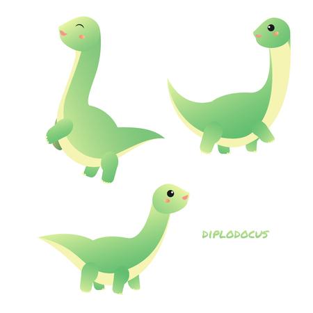 Diplodocus sauropods giant plant eaters largest land animals Foto de archivo - 127517216