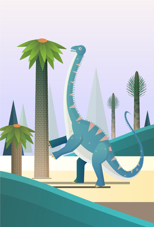 Diplodocus sauropods giant plant eaters largest land animals Foto de archivo - 127517233