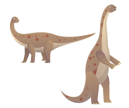 Dinosaur plant eaters largest land animals Stock Illustratie
