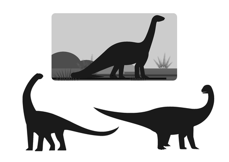 Dinosaur plant eaters largest land animals Illustration