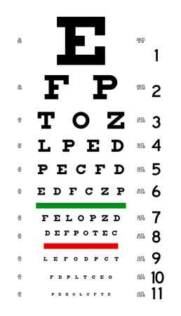 Eye Chart Stock Photo - 676844