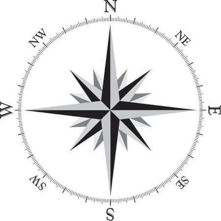 wind wheel: Illustrazione Della Rosa Della Bussola Vettoriali