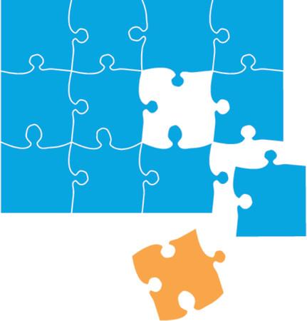 dificuldade: Puzzle. the final piece concept Ilustra��o
