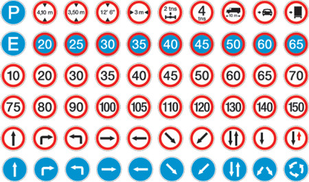road signs in vector format pack 2 Stock Vector - 685946