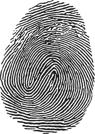 vectorized Fingerprint Stock Vector - 685942