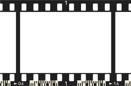 fotografi: Film Frame fotografica, con telaio e numeri di codice  Vettoriali