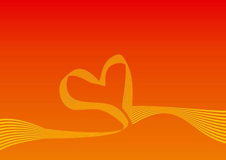Background with gradient and curved lines forming a heart. ideal for velentines day Stock Photo