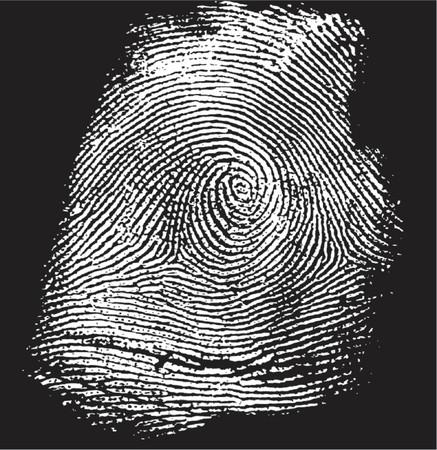 tu puedes: vectorized la huella digital en negativa (la parte blanca es transparente, usted puede cambiar el color de la parte negra) Vectores