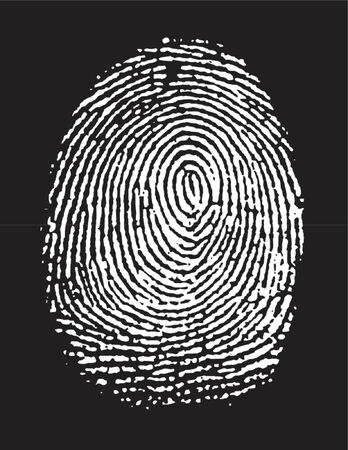 bifurcation: vectorized fingerprint in negative (the white part is transparent, you can change the color of the black part) Illustration
