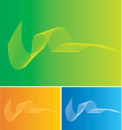 Three Backgrounds with curvy lines (its a vector, you can changeedit anything you wantneed) Vector