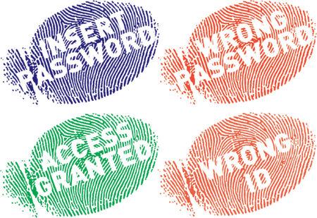 Fingerprints with messages Stock Vector - 727711