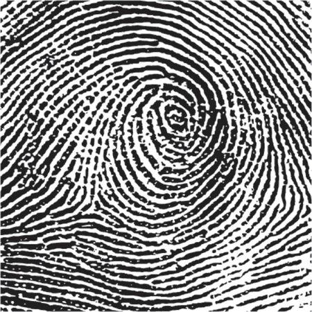 forensics: Fingerprint Crop Illustration