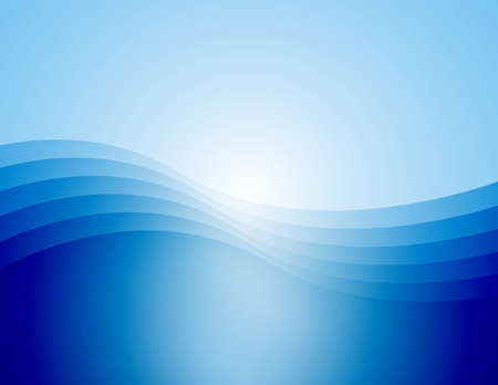 varying: Computer generated background of a graceful wave in varying shades of blue. Stock Photo