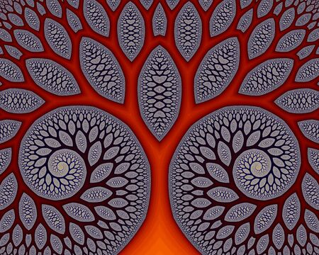 reminding: Abstract Fractal Generated Background, reminding of cells within the blood stream. Stock Photo