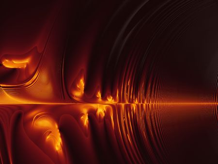 complexity: Burning Fractal Sound Waves. Abstract computer generated fractal background