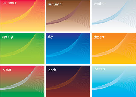 abstract vector background, in 9 different flavors