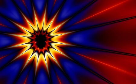 Comic styled explosion (generated from a fractal design) photo
