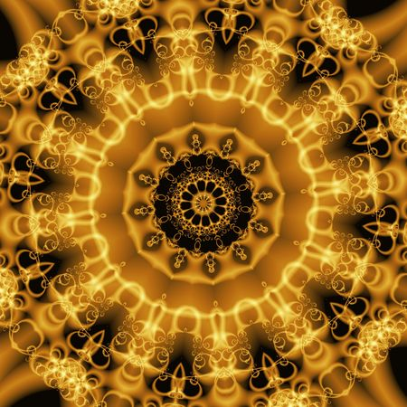 Abstract Golden Forms Pattern, coming from a fractal design.