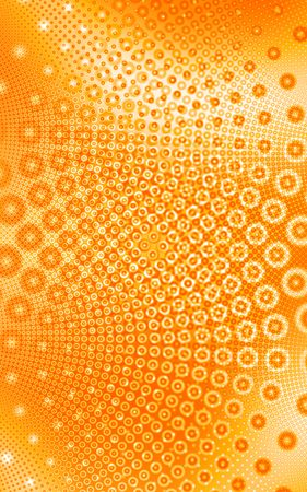 Orange and white circles pattern background, generated from a fractal design. photo