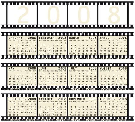 weekly planner: 2008 Calendar inside photographic film strips.