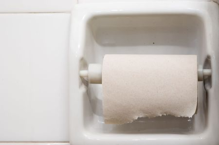 toilette: roll of toilette paper