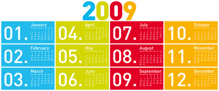 schedulers: Colorful Calendar for 2009