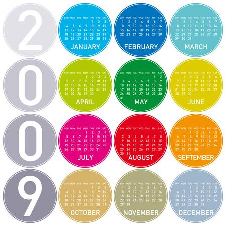 almanac: Colorful Calendar for 2009, in a circles theme