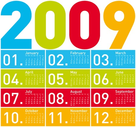 daily planner: Colorful Calendar for 2009