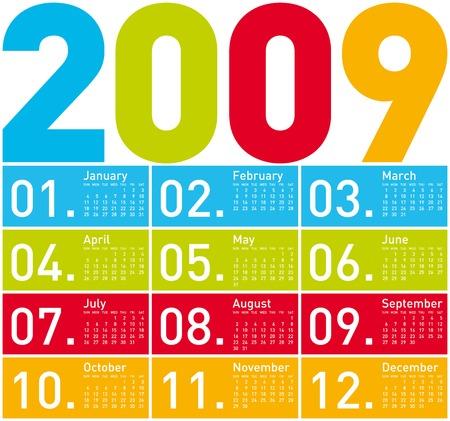 almanac: Colorful Calendar for 2009