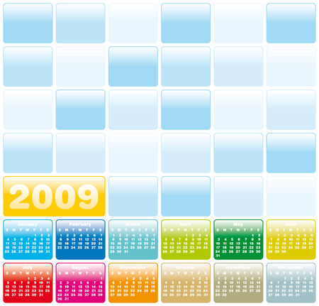 Colorful Calendar for 2009. Vector