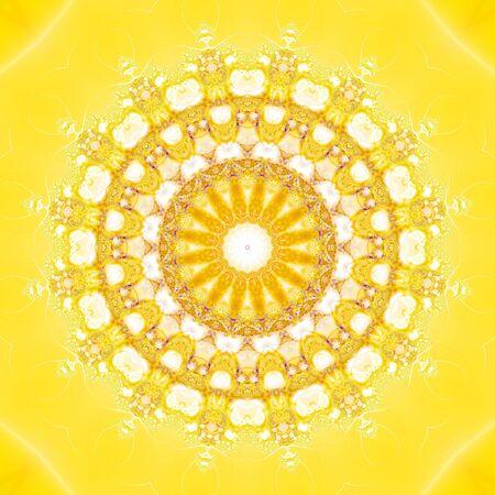 computer generated image: Kaleidoscopic Fractal Sun (computer generated image)